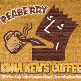 Peaberry Kona Ken's coffee
