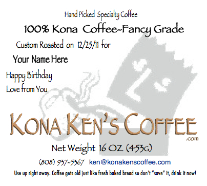 100% Kona coffee Fancy Grade