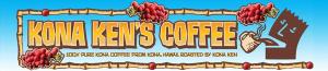 Kona Ken's coffee logo mobile